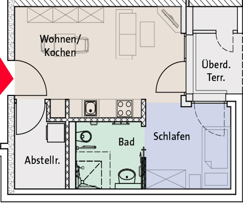 service-wohnen-buende-grundriss